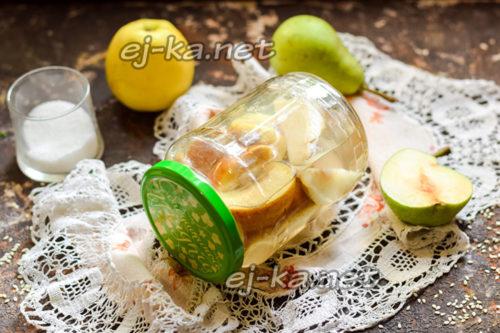 яблочный компот с грушами