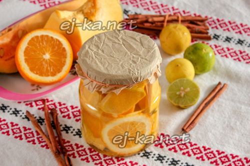 тыква на зиму с апельсином