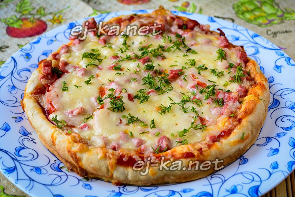пицца из того что было в холодильнике