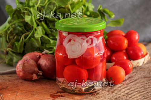 сладкие томаты с луком на зиму