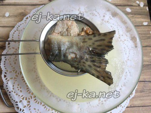 вытащить рыбу