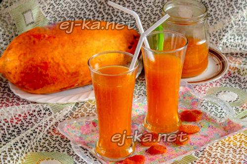 сок из тыквы и кураги