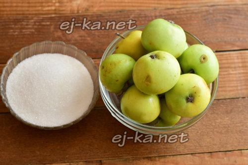 яблоки и сахар