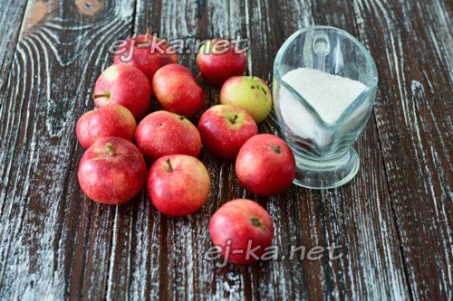 яблоки и сахар на варенье
