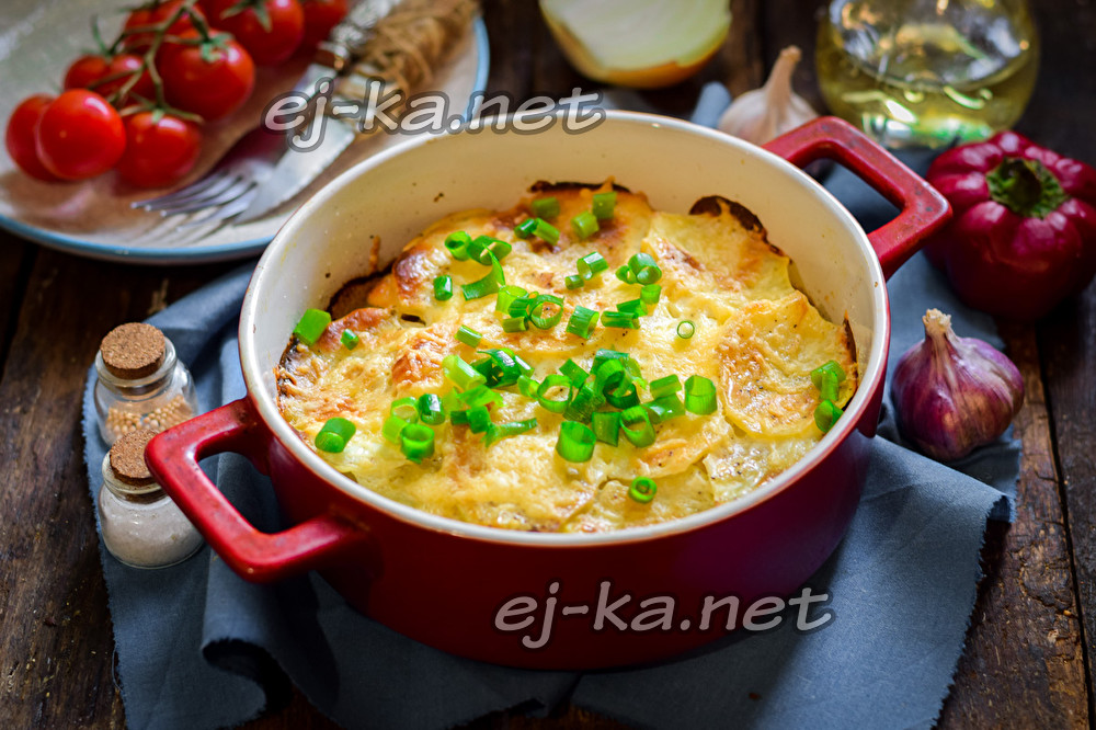 картошка и скумбрия