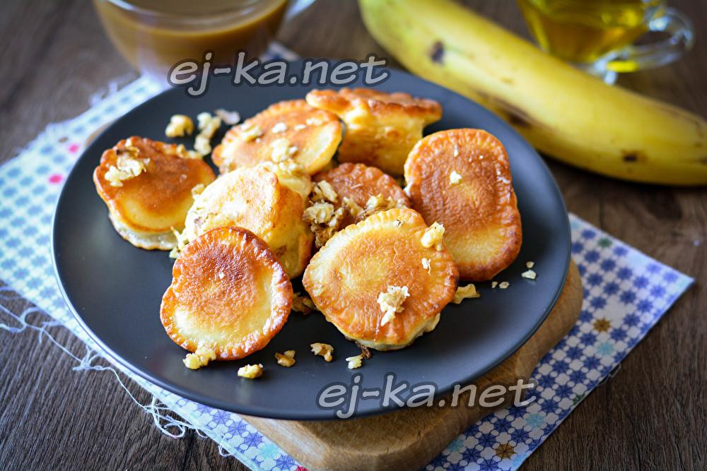 бананы в теста