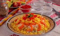 блюдо с креветками