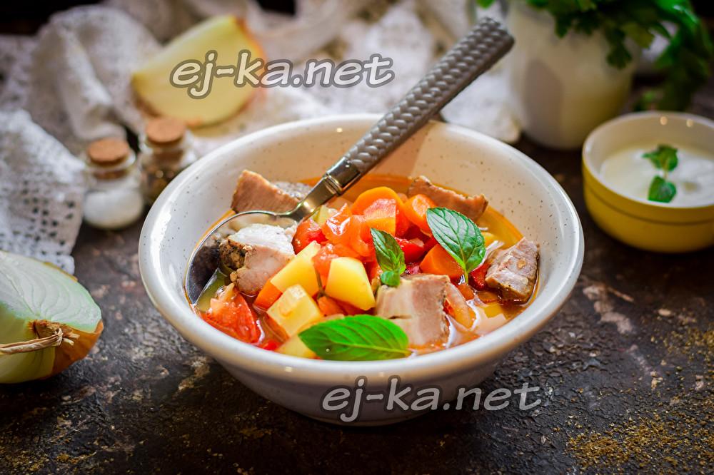 вкусный суп с мясом