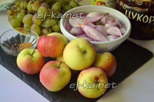 лук и яблоки