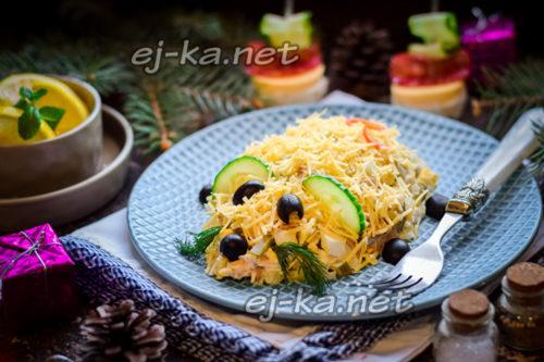 красиво выложен салат