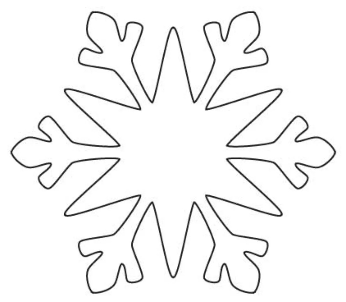 Картинки снежинки шаблон