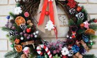 Стильный рождественский венок