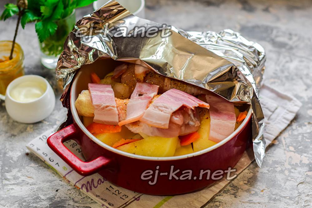Ица с картошкой в аэрогриле - пошаговый рецепт с фото