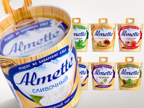 сыр альметте с разными вкусами
