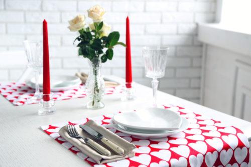 Сервировка на День Валентина