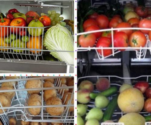 Моют фрукты и овощи