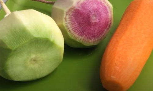 почистите овощи