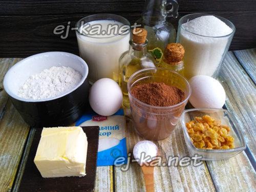 продукты на торт