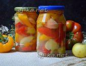 Миниатюра к статье Маринованный сладкий перец с яблоками на зиму