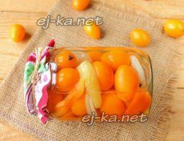 Миниатюра к статье Очень вкусные маринованные помидоры черри на зиму