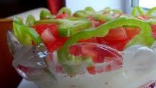 Рецепт салата с копченой рыбы