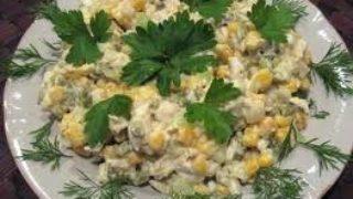 Салат из консервов в масле