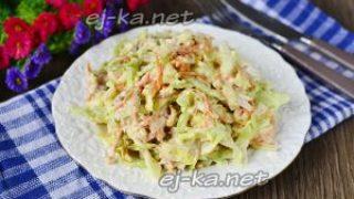 Миниатюра к статье Салат с корейской морковкой и курицей