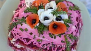Праздничный салат «Сельдь под шубой»