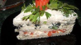 Миниатюра к статье Рецепт закусочного торта