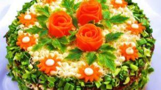 Миниатюра к статье Праздничный, закусочный торт