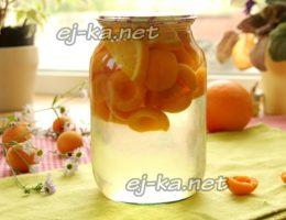 Компот из абрикосов с апельсинами