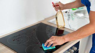 Очистить варочную панель из стеклокерамики