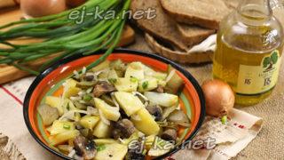 салат деревенский с грибами