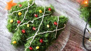 Салат в виде ёлочки