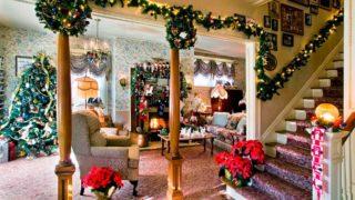 новогоднее украшение дома