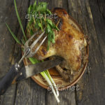 Миниатюра к статье Утка фаршированная квашеной капустой в духовке